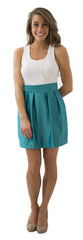 Charlotte Skirt- Teal- Poly Satin Lined
