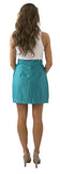 Charlotte Skirt- Teal- Poly Satin Unlined