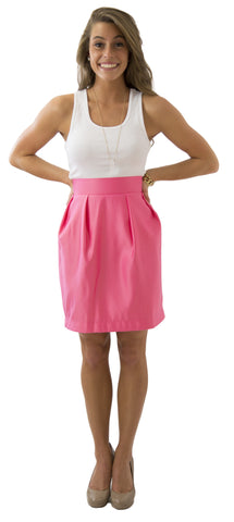Charlotte Skirt- Watermelon- Poly Satin Lined