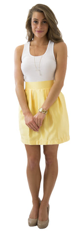 Charlotte Skirt- Sunny Jasmine- Poly Satin Unlined