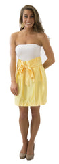 Carolina Bow Skirt- Sunny Jasmine- Poly Satin Lined