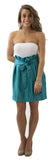 Carolina Bow Skirt- Teal- Poly Satin Unlined