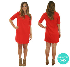 Belle Collection- Christine Scallop Dress
