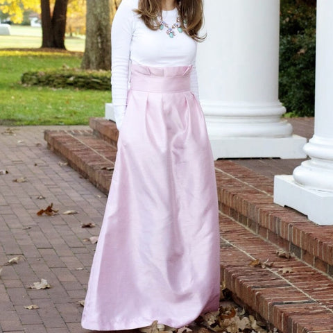 {Pre-Order} Floor Length Carolina Bow Skirt