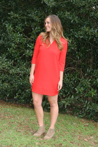 The Carter Dress - Red