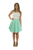 Sara Kate Skirt-Seafoam Cotton Sateen Unlined