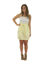 Carolina Bow Skirt- Light Yellow- Twill Unlined