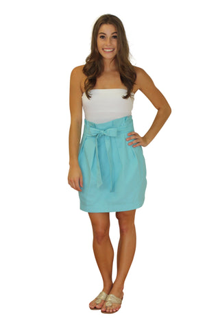 Carolina Bow Skirt- Light Blue- Twill Unlined