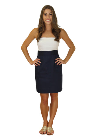 The Maddie Pencil Skirt-Navy