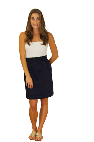 The Olivia Cinched Skirt-Navy