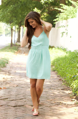 Mint Criss Cross Dress
