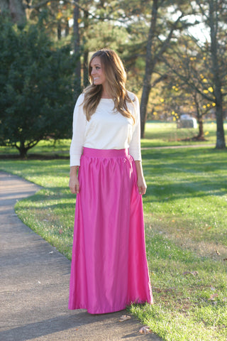 {Pre-Order} Floor Length Emily Gathered Skirt