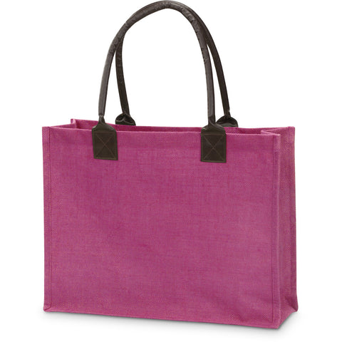 Jute Market Tote with Greek Letters