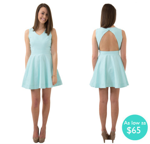 Kelsey Triangle Back Sorority Dress