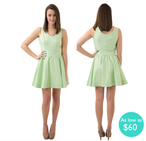 Kristyn V-Neck Sorority Dress