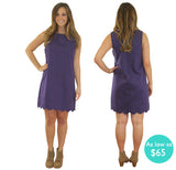 The Samantha Scallop Sorority Dress