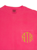 Monogrammed Pocket T-Shirt (Comfort Colors)