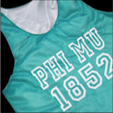 Greek Mesh Tank With Custom Lettering