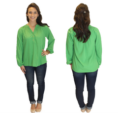Amelia Long Sleeve Blouse - Green