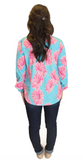 Amelia Long Sleeve Blouse - Floral Print