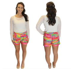 Virginia Shorts - Multi Color Print