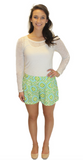 Virginia Shorts - Mint Print