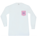 Pic-A-Pocket Greek Long Sleeve Letter Shirt