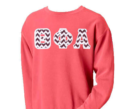 Comfort Colors Crewneck with Greek Letters