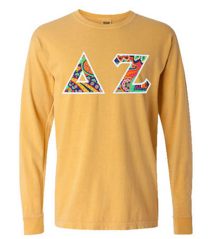 Comfort Colors Long Sleeve with Greek Letters