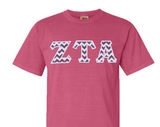 Comfort Colors Crewneck Tee with Greek Letters