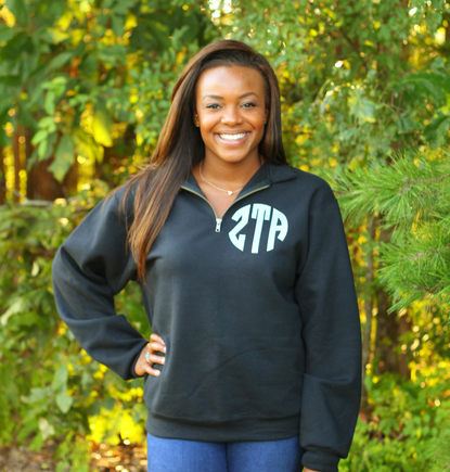 Sorority Quarter Zip with Crest