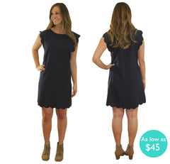 Belle Collection- Talena Scallop Dress