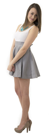 Sydney Skirt- Gray- Cotton Sateen Unlined