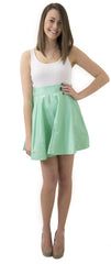 Sydney Skirt- Seafoam - Cotton Sateen Unlined