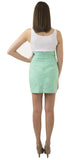 Carolina Bow Skirt- Spearmint- Cotton Sateen Lined