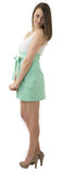 Carolina Bow Skirt- Seafoam- Cotton Sateen Unlined