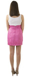 Carolina Bow Skirt- Rose Passion- Poly Shantung Unlined