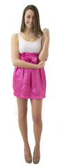 Charlotte Skirt- Hot Pink- Shiny Shantung Unlined