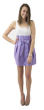 Carolina Bow Skirt- Lavender Light- Cotton Sateen Unlined