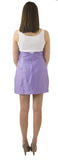 Carolina Bow Skirt- Lavender Dark- Cotton Sateen Unlined