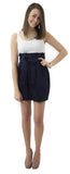 Carolina Bow Skirt- Navy- Cotton Sateen Unlined
