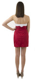 Carolina Bow Skirt- Red- Cotton Sateen Unlined
