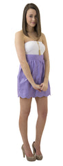 Aly Scallop Skirt- Light Lavender- Cotton Sateen Unlined