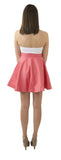 Sydney Skirt- Coral- Cotton Sateen Lightweight Unlined