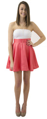 Sydney Skirt- Bright Coral- Poly Satin Unlined