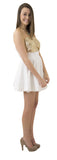 Sydney Skirt- White- Cotton Sateen Lined