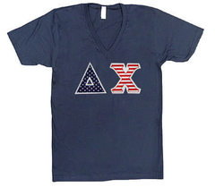 USA American Apparel V-Neck T-Shirt