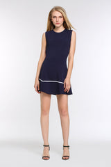Two Toned A-line Dress 1508304 ROYAL BLUE