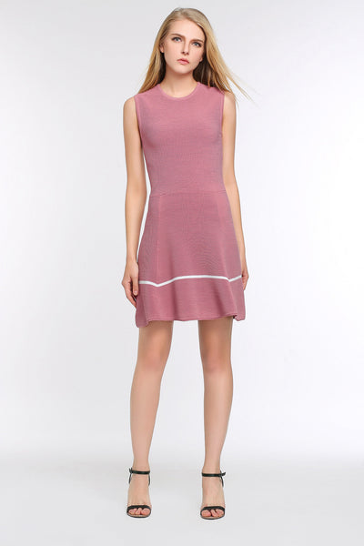 Two Toned A-line Dress 1508304 PINK