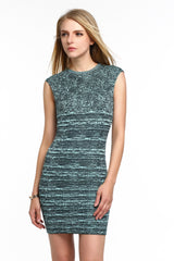 Stretch Knit Sleeveless Bodycon Dress 1508302 DARK GREEN